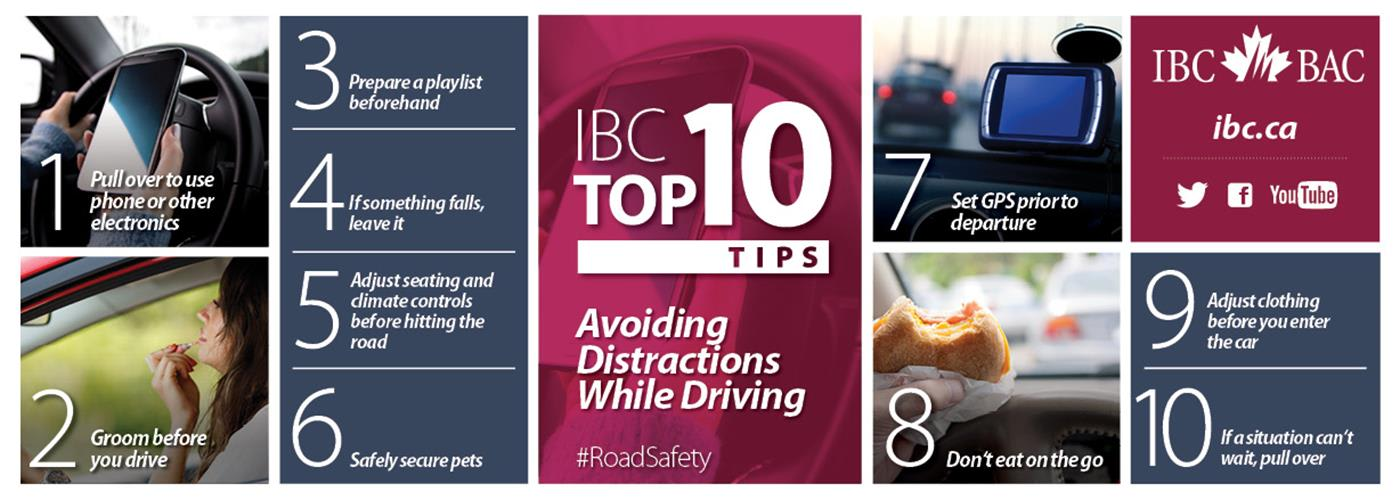 IBC's Top 10 Tips for Avoiding Distractions While Driving